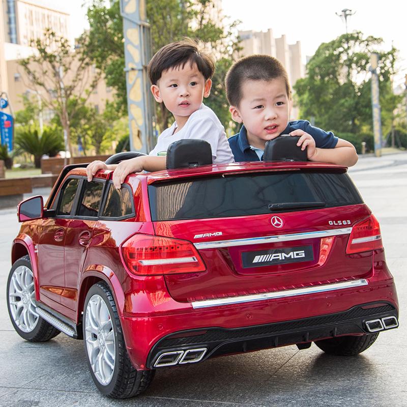 奔驰儿童电动车四轮四驱越野车小孩玩具小汽车可坐双人座宝宝童车