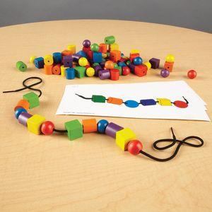 儿童幼儿串串珠绕珠玩具益智力男女孩宝宝手工diy木质积木穿珠子