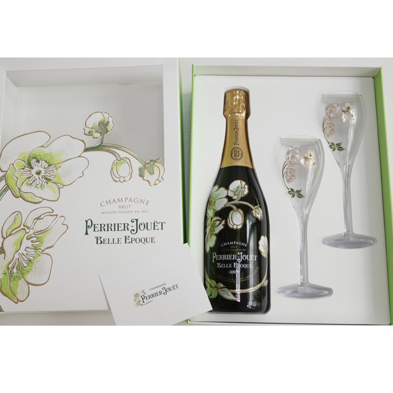 巴黎之花 Perrier Jouet Rose 美丽时光 香槟酒08礼盒雕花杯
