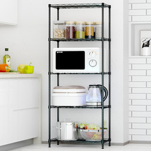 Kitchen shelf landing metal living room bedroom shelf microwave oven shelf provincial space shelf multi-storey shelf