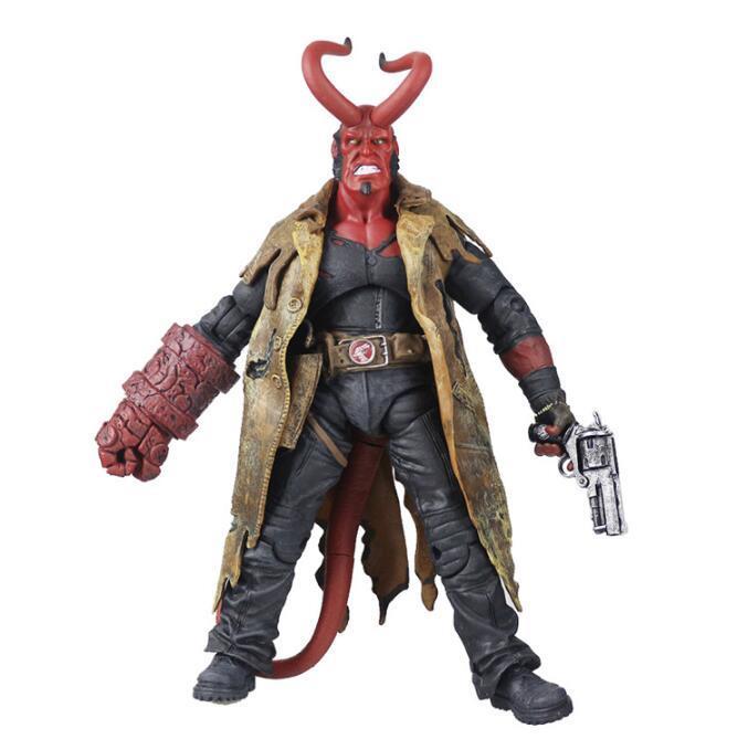 MEZCO 蚂蚁 地狱男爵 Hellboy 地狱男孩 6寸超可动人偶手办模型/
