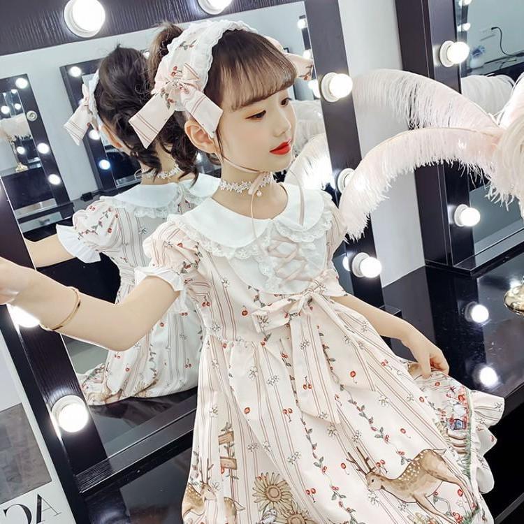 女の子の梅の花のワンピース2020新型洋服ロリータ子供服の少女の王女のスカートの子供のスカート