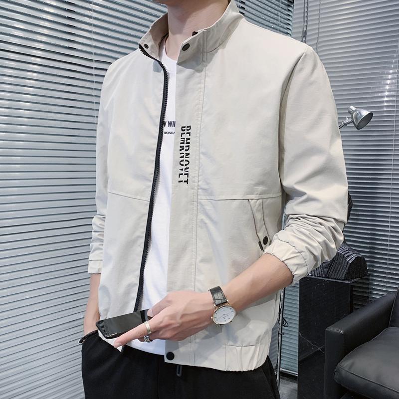 2020秋季新款男装外套夹克衫青年休闲帅气百搭棒球上衣服韩版潮流