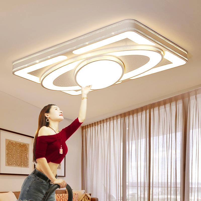 客厅灯大灯2019年新款led吸顶灯具现代简约大气家用房间卧室灯饰