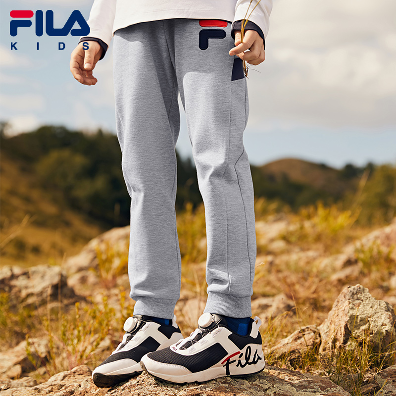 FILA children's clothing boy pants 2020 spring and autumn new children's big children's western style sweatpants trousers
