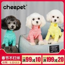 趣派狗狗衣服秋装水果棉打底衫舒适小型犬泰迪贵宾比熊法斗猫衣服