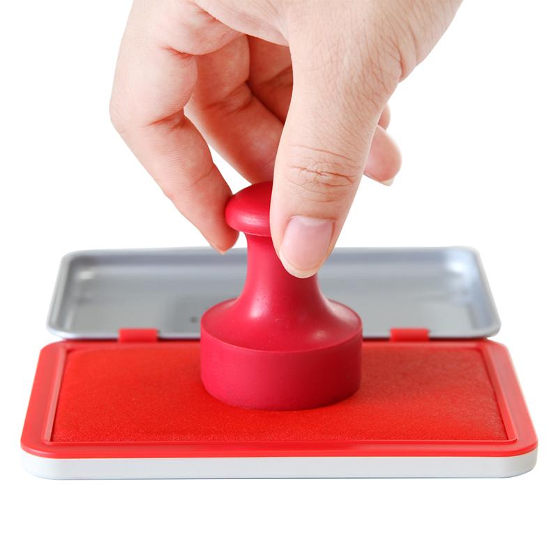 朱肉印台红色印泥得力快干印台9892包邮速干印台盒办公印泥印油盒