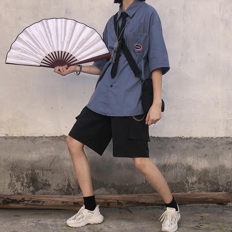2019工装女夏宽松韩版cec子阔腿裤包邮