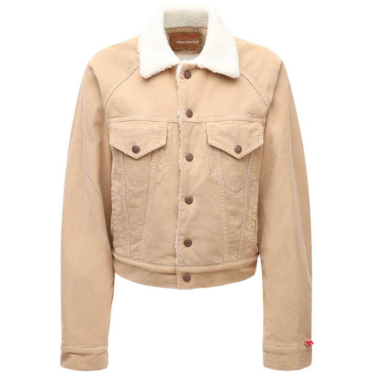 代购Denimist 牛仔人造剪羊毛夹克短外套2021新款奢侈品短款外套
