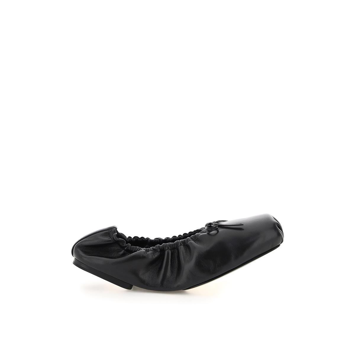 代购Khaite ashland 皮质芭蕾舞鞋女2021新款奢侈品舒适百搭单鞋