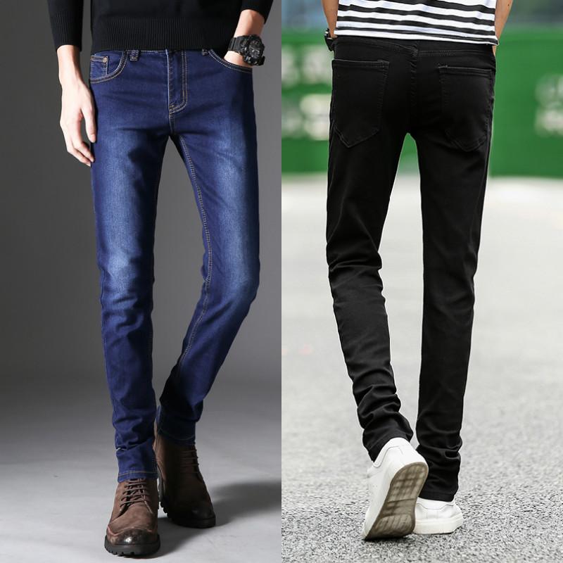 24牛仔裤男冬加厚季新款牛仔裤男士韩版修身潮流百搭小脚款男裤子