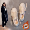 ins over the fire velvet white shoes cotton-padded winter 2017 new Korean wild student shoes canvas shoes Hong Kong flavor