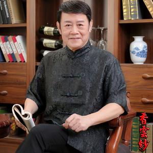 香云纱唐装男士短袖中式夏装装衬衫