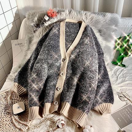 很仙的加厚毛衣开衫女秋慵懒风2019春装新款宽松网红针织外套洋气