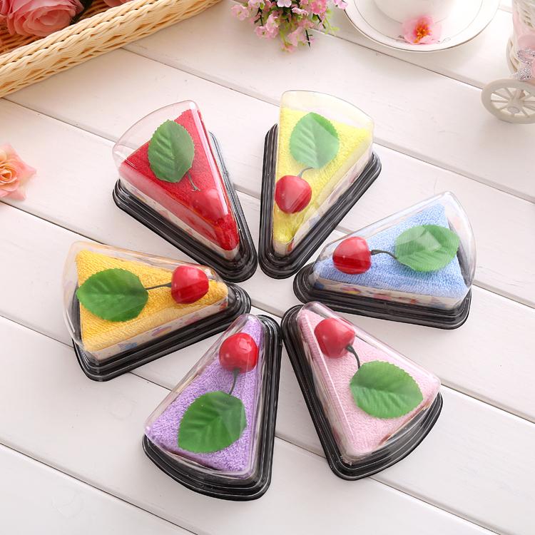圣诞节扫码活动小礼物结婚庆生日回礼创意礼品蛋糕毛巾盒装三明治
