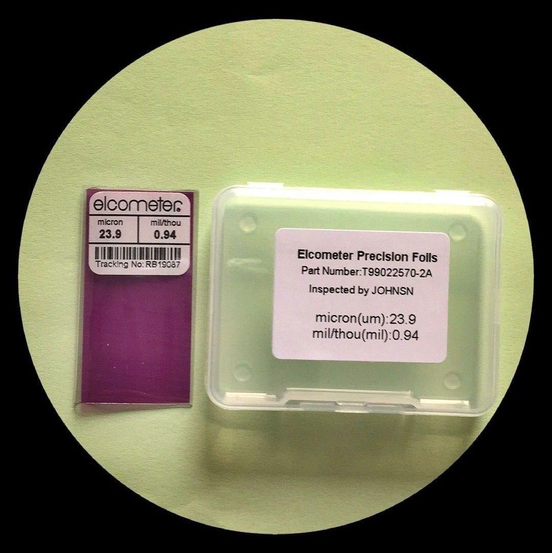 易高50厚度测试片 涂层测厚仪标准片 456标配校准膜片 测厚试片