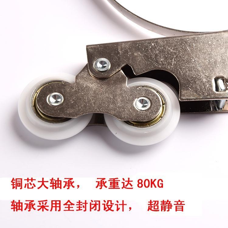 靜承重上下輪槽推拉衣柜木門浴室輪軌道滾輪移門滑輪雙輪