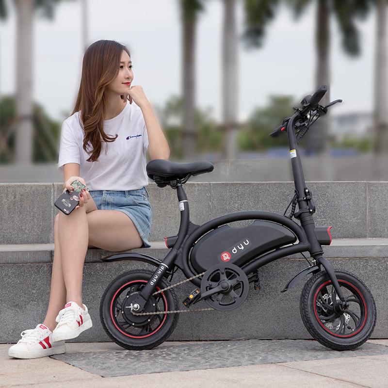 大鱼电动自行车 新国标折叠电动车小型亲子车男女代步电动电瓶车