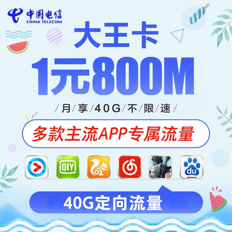 满50.00元可用45.1元优惠券湖南电信大王卡日租爽4g无限手机