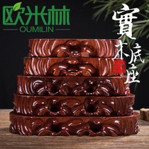 TB12 flat strip root carving decoration ornamental stone base solid wood can dig groove odd stone base wood
