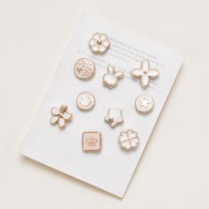 10件套韩国珍珠防走光小胸针