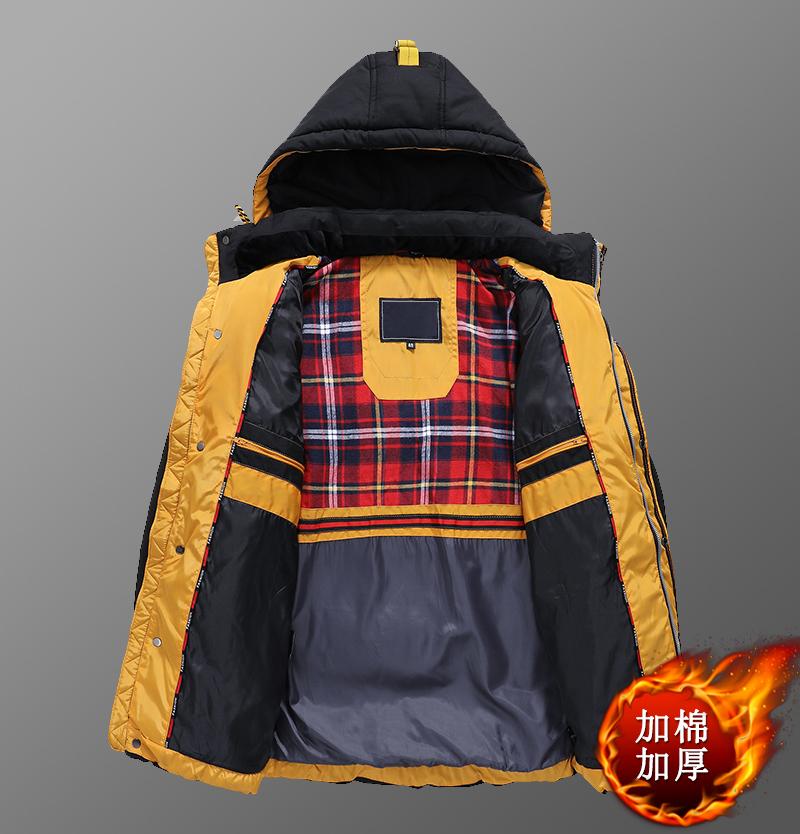 爸爸装冬季外套中老年加绒加厚棉衣50岁60保暖棉袄男士休闲棉服