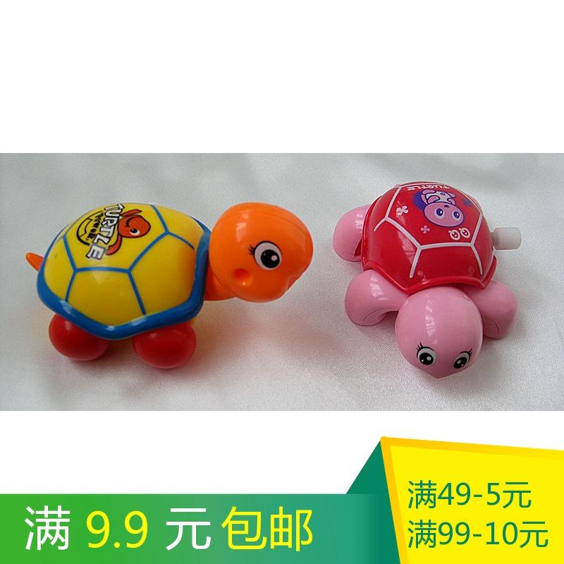 儿童发条上链玩具 3岁宝宝上弦链条小玩具炫彩QQ乌龟