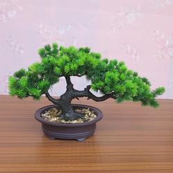 仿真迎客松树盆景室内桌面摆设假花植物小盆栽客厅绿植装饰品摆件