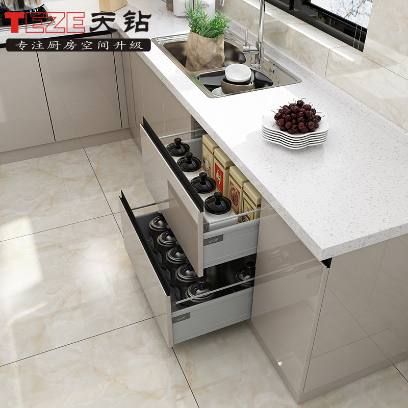 Tianzuan one-stop kitchen renovation kitchen cabinet customized overall cabinet table stainless steel cabinet customized kitchen cabinet