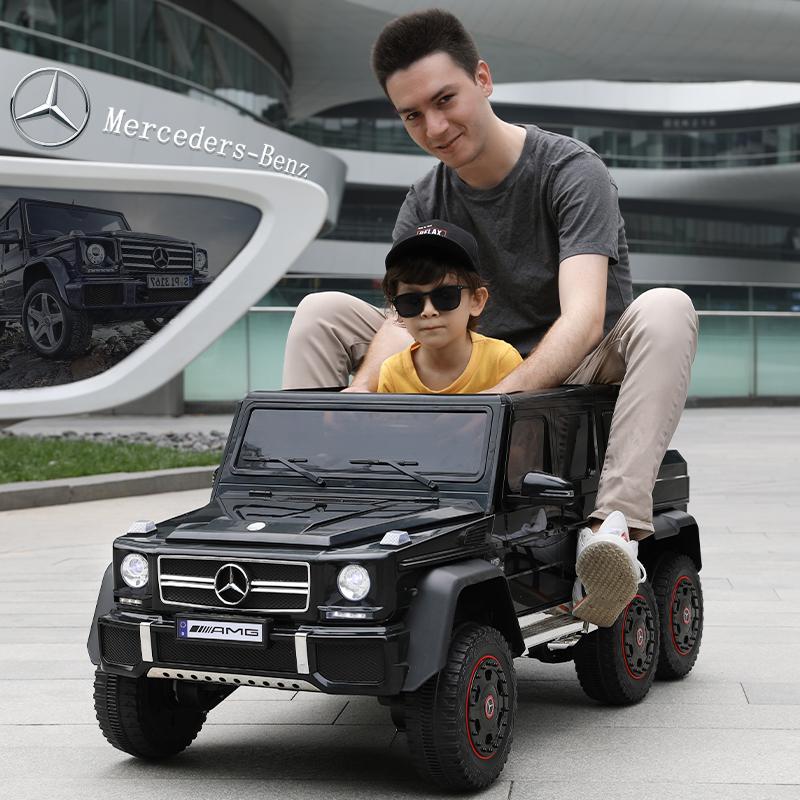 奔驰大g儿童电动汽车四轮遥控越野宝宝玩具车可坐大人双人小孩车