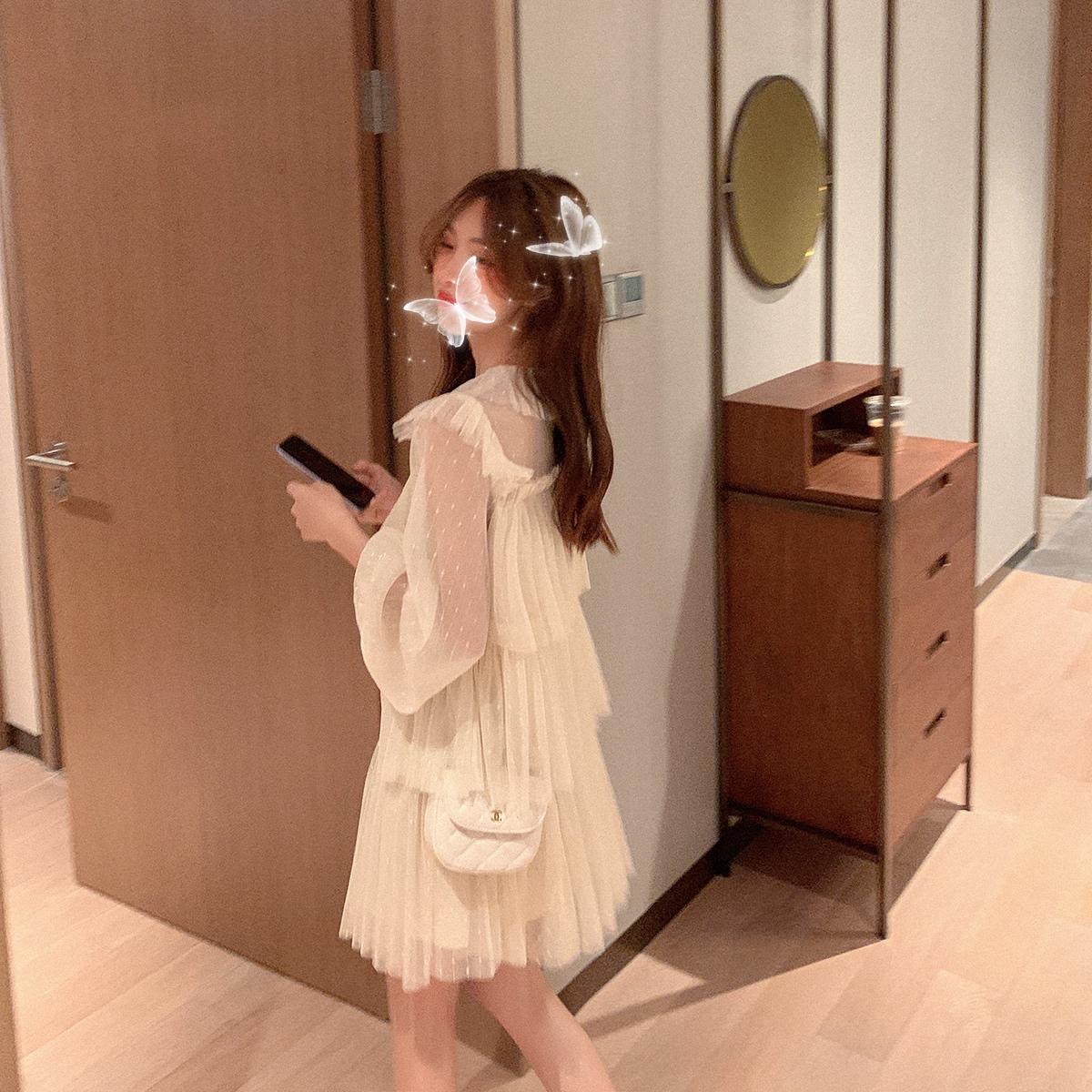 灰灰家定制 裙子女夏2020新款衬衫裙蛋糕裙连衣裙娃娃裙韩版宽松