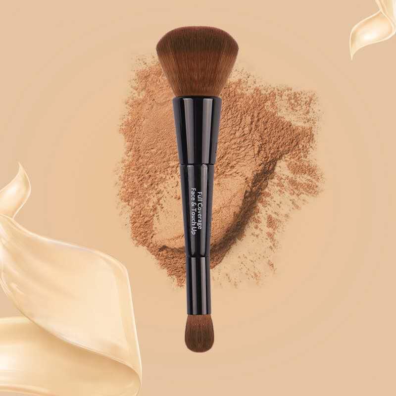 New Cangzhou factory store Bobbi home portable double head magic foundation eye shadow halo dyeing repair nose shadow high gloss brush