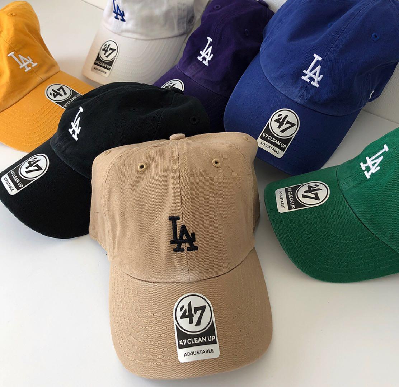 现货正品47brand LOS ANGELES DODGERS LANY女弯檐帽棒球帽道奇队