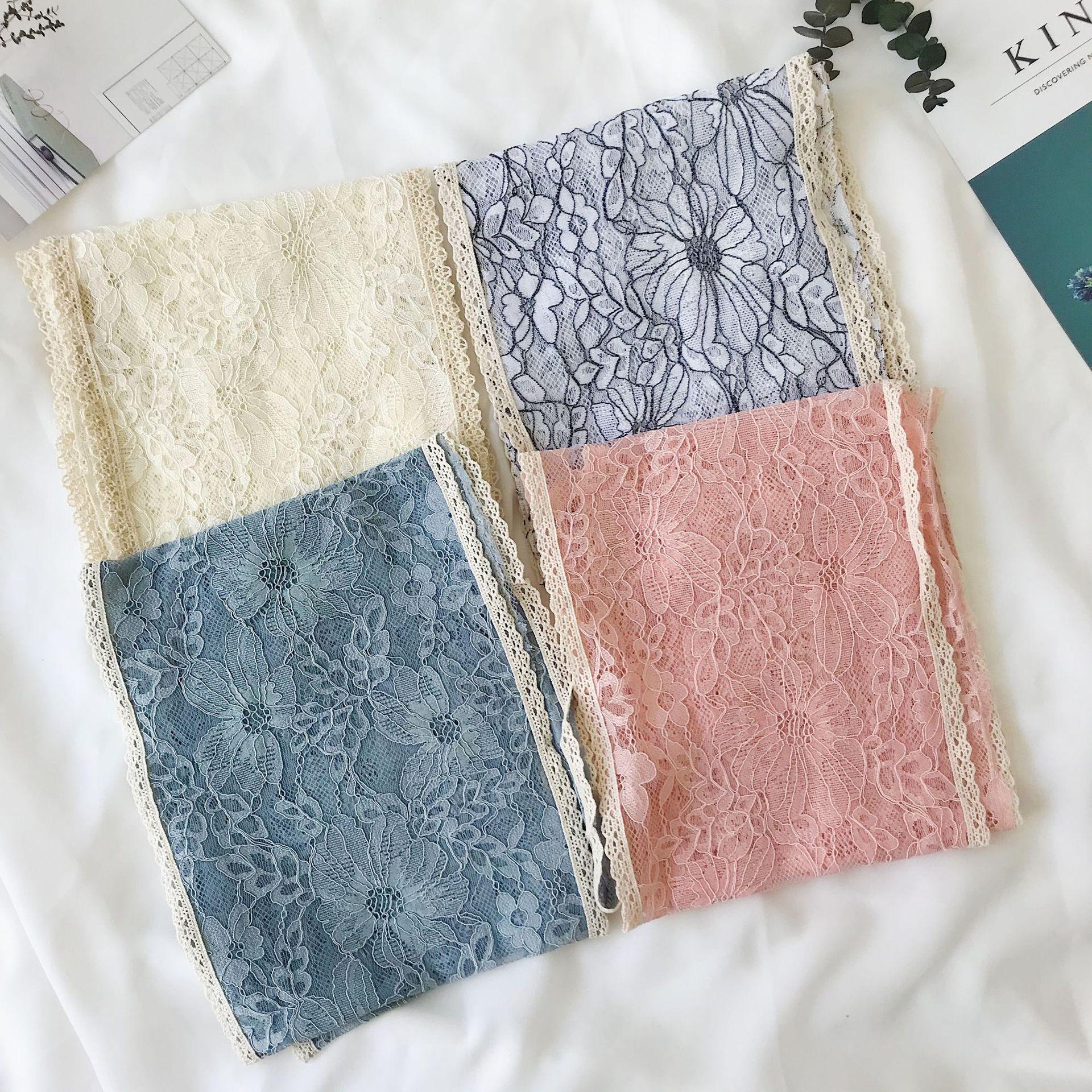 韩国花边镂空蕾丝薄款百变小围巾