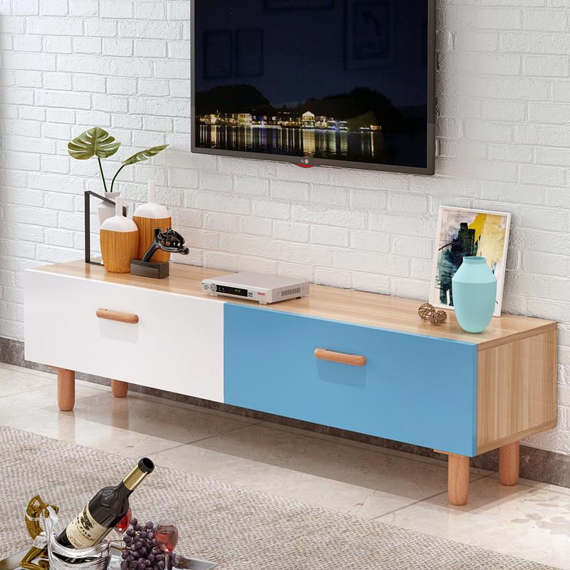 1.2米宾馆大气小户型经济型桌子加长款收纳柜北欧电视柜原木色