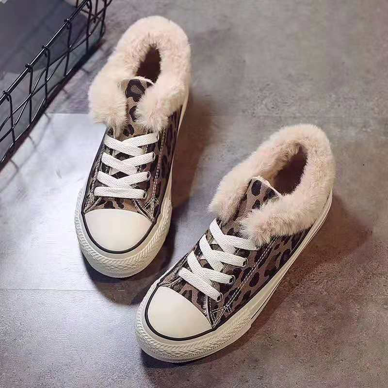 5 2018新款冬季保暖棉鞋女平底加绒女鞋韩版学生鞋瑞安鞋