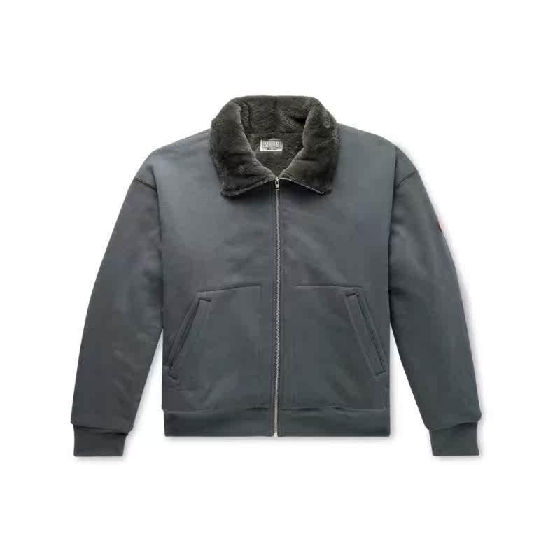 代購 cav empt 男2019冬季新品 人造毛皮里襯棉針織拉鏈衛衣 夾克