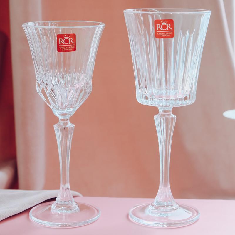 进口意大利RCR永恒欧式复古水晶玻璃高脚杯红酒杯葡萄酒杯酒时浪