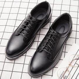 男鞋夏季透气鞋子男潮鞋英伦潮流尖头休闲皮鞋工装马丁皮靴男板鞋图片