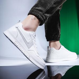 雨鞋男小白鞋板鞋韩版百搭潮鞋子春季时尚白色潮流防水鞋休闲男鞋