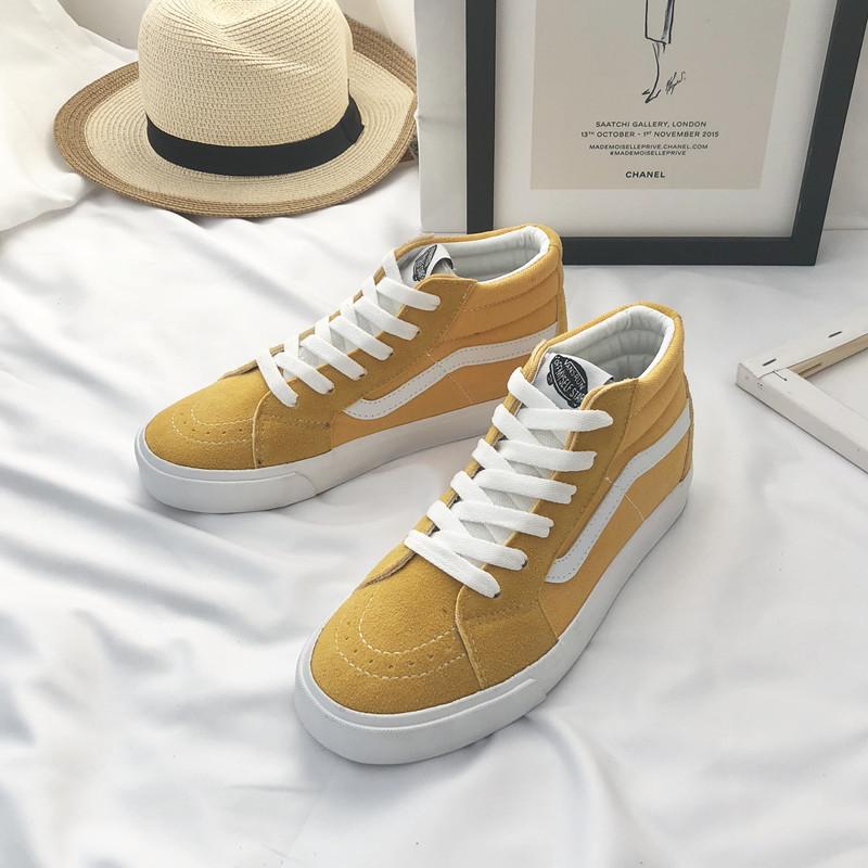 潮范万斯高帮女2019新款韩版帆布鞋(非品牌)