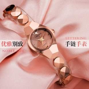 女表防水时尚 瑞士古浪琴海全自动机械表钢带女士手表新款 镶钻腕表