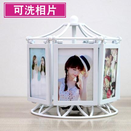 创意DIY手工定制照片风车旋转相框摆台相册结婚纪念礼品生日礼物