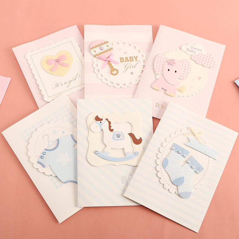 包邮韩国创意卡通生日祝福小卡片儿童节感谢卡教师节中秋节贺卡