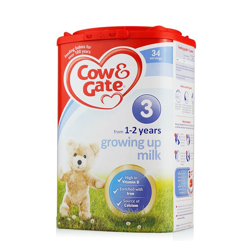 英国Cow&Gate牛栏婴儿奶粉3段(1-2周岁宝宝)900g保税区发