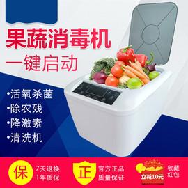 果蔬消毒清洗机水果蔬肉食材净化洗菜机家用自动去农残臭氧解毒机图片