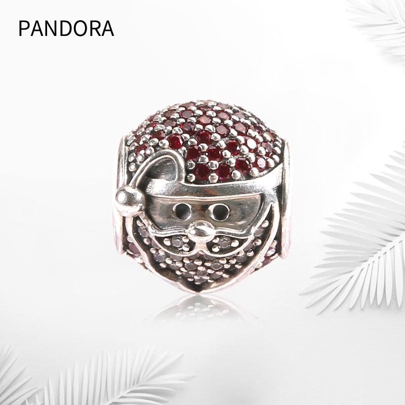 圣诞新款 pandora/潘多拉闪耀快乐的圣诞老人925银串饰796385CZR