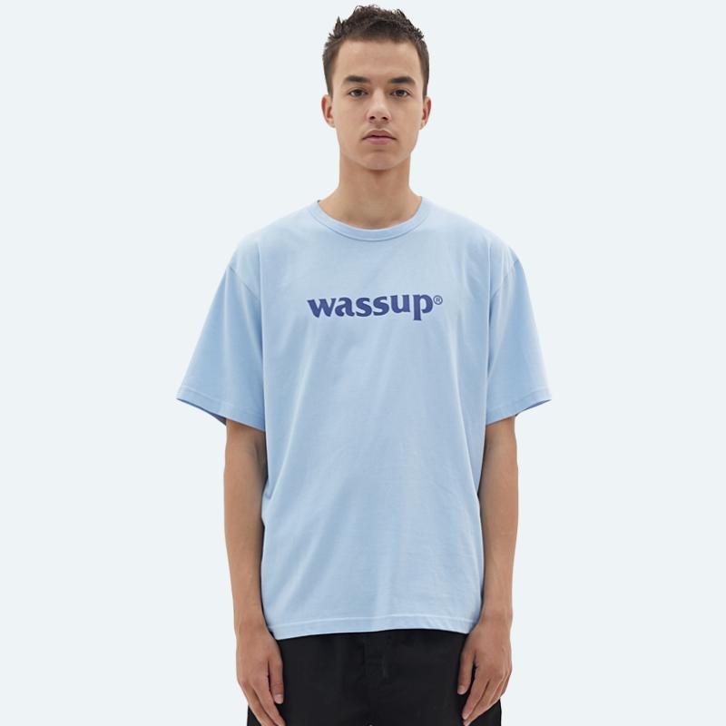 WASSUP2019春季新品基础短袖潮流休闲纯色半袖打底圆领男装t恤券后118.00元