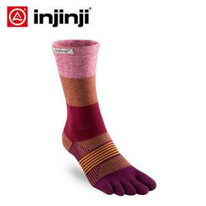 injinji五指袜长筒加厚户外女款袜