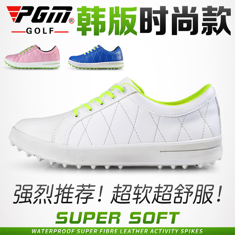 Korean version! Golf shoes womens super light shoes waterproof womens sports shoes breathable small white shoes golf shoes
